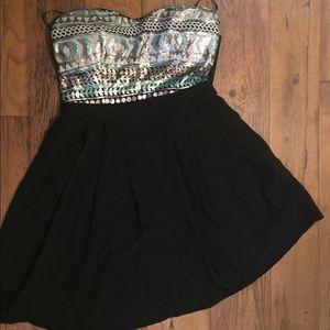 Forever 21 medium black sequin dress